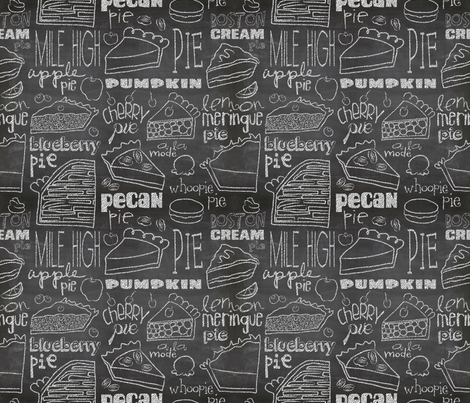Today's Chalkboard Special!  fabric by pattyryboltdesigns on Spoonflower - custom fabric