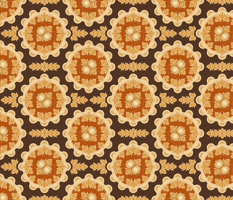 Pumpkin Pie fabric by jjtrends on Spoonflower - custom fabric