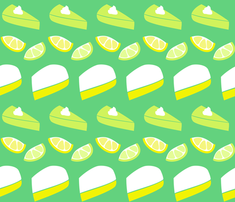 Lemon and Lime Pie Pie Pie fabric by lucy_myfunnybuddy on Spoonflower - custom fabric