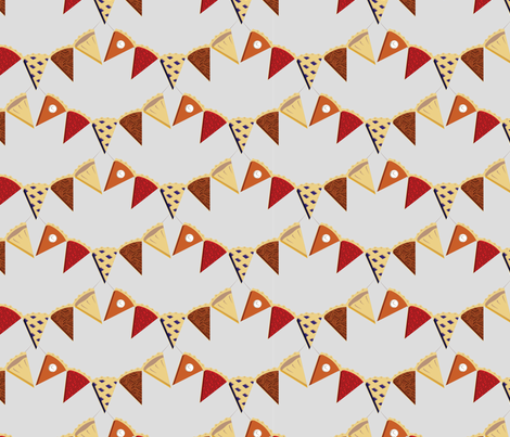 Pie Bunting! fabric by girlfighter on Spoonflower - custom fabric