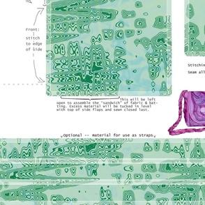 DIY Handbag marbled green