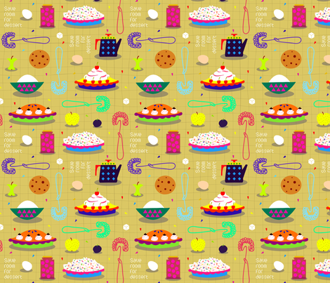 save_room_for_dessert fabric by uramarinka on Spoonflower - custom fabric