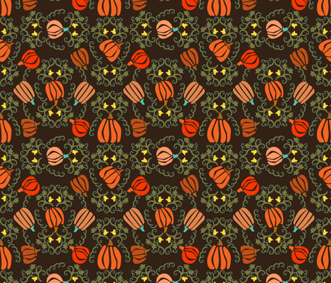 Pumpkin Garden fabric by mag-o on Spoonflower - custom fabric