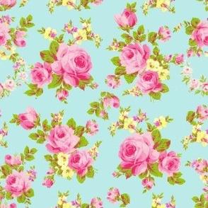 Rose sprigs n wreaths Aqua