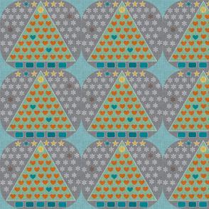 Wall Tree mint - small & texture