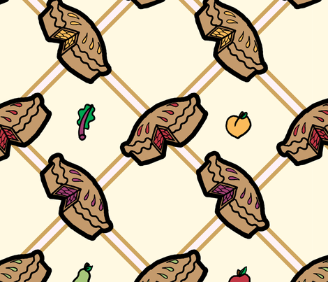 Apple, Rhubarb, Peach or Pear fabric by juliematthews on Spoonflower - custom fabric