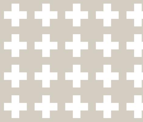 White cross on natural