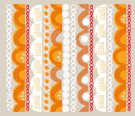2016 citrus slice tea towel calendar-21 inch fabric by ottomanbrim on Spoonflower - custom fabric