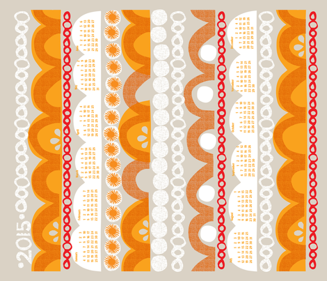 2015 citrus slice tea towel calendar-21 inch fabric by ottomanbrim on Spoonflower - custom fabric