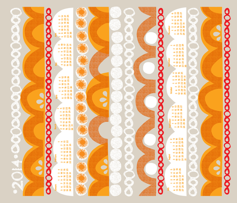 2014 citrus slice calendar-21 inches wide fabric by ottomanbrim on Spoonflower - custom fabric