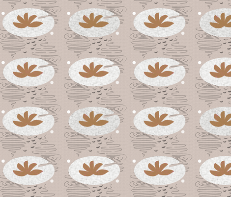 lily in pink fabric by mummysam on Spoonflower - custom fabric