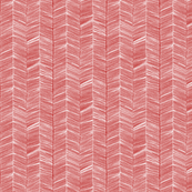 White Herringbone on Red