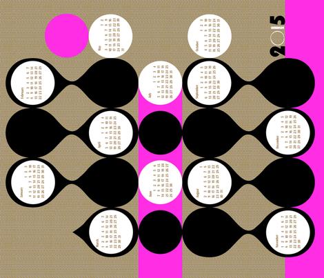 2015 curvilinear tea towel calendar-21 inch fabric by ottomanbrim on Spoonflower - custom fabric