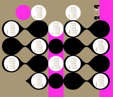 2014 curvilinear calendar-21 inches wide fabric by ottomanbrim on Spoonflower - custom fabric