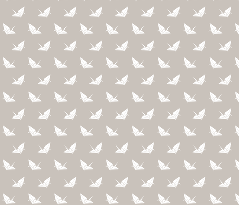 Folded Flock: Warm Gray fabric by nadiahassan on Spoonflower - custom fabric