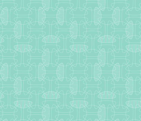 Interlock: aqua fabric by nadiahassan on Spoonflower - custom fabric