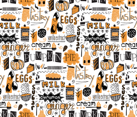 Pumpkin Pie !! fabric by demigoutte on Spoonflower - custom fabric