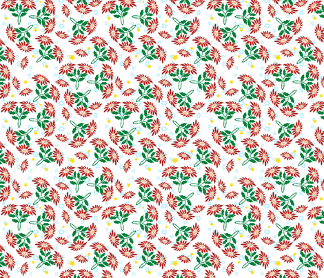 poinsettia ditsy fabric by hannafate on Spoonflower - custom fabric