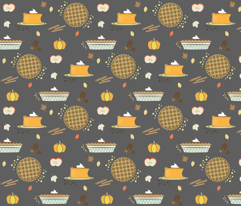 There is Always Room for Pie! fabric by fat_bird_designs on Spoonflower - custom fabric