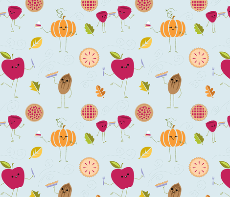 Pie! Yummy Yum! fabric by spicysteweddemon on Spoonflower - custom fabric
