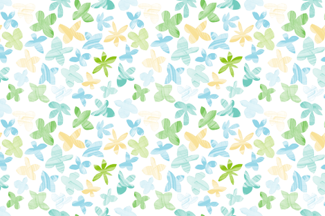 Mom's Flowers fabric by lavaguy on Spoonflower - custom fabric