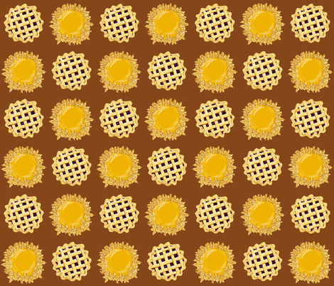 Pies Fabric By Kristie Hubler fabric by fabricatedframes on Spoonflower - custom fabric