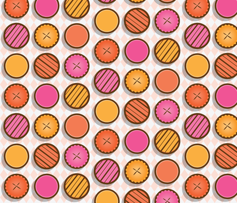 Pumpkin Pie Picnic fabric by karapeters on Spoonflower - custom fabric