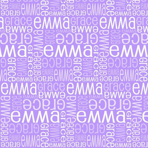 Personalised Name Fabric - Purple 5