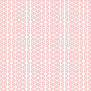 Triangle Lattice in Petal Pink