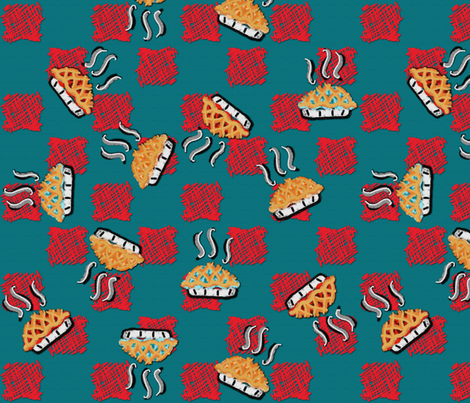 ALL THE PIE! fabric by peacoquettedesigns on Spoonflower - custom fabric