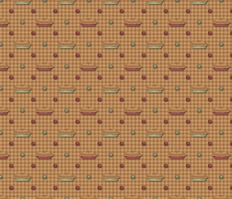 Rgreen_and_red_pies_and_apples_on_tan_gingham.ai_shop_preview