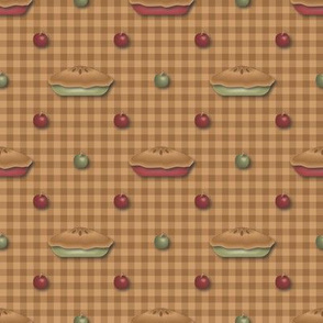 green_and_red_pies_and_apples_on_tan_gingham