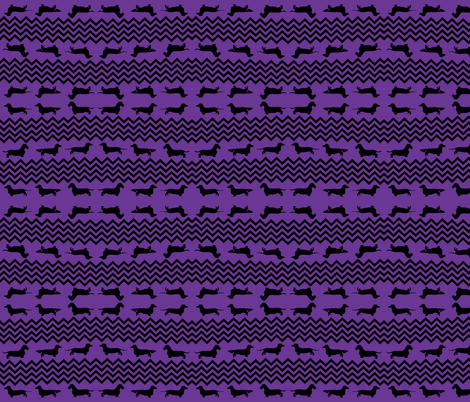 Purple and Black Weenie Chevron fabric by theartwerks on Spoonflower - custom fabric
