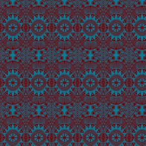 blue&red tribal
