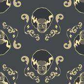 Bride of Frankenstein Flourish Small (Navy)