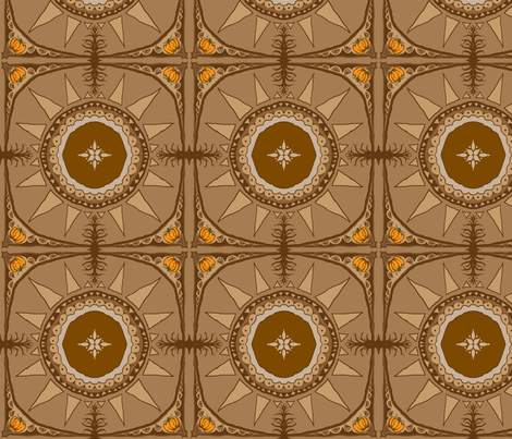 Pumpkin Pie by Rose Wilkinson fabric by rose_wilkinson on Spoonflower - custom fabric