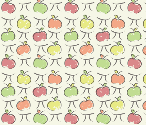 Apple Pi fabric by emysue2005 on Spoonflower - custom fabric
