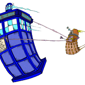 Dalek hitching a ride