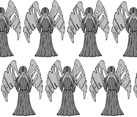 Weeping Angel fabric by skree on Spoonflower - custom fabric