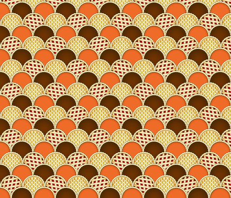 Harvest Pies fabric by resdesigns on Spoonflower - custom fabric