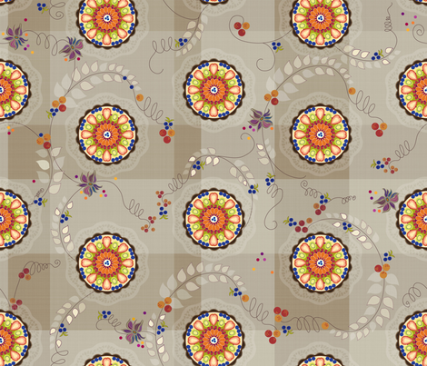 Fruity cream pie party fabric by liluna on Spoonflower - custom fabric