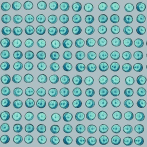 bingo dots, turquoise and gray