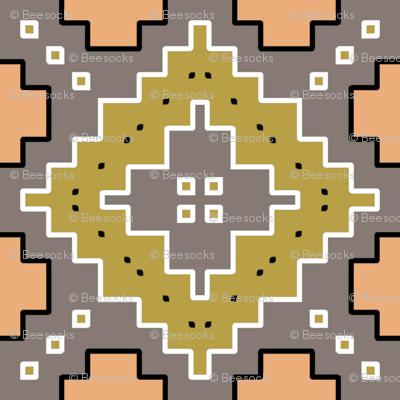 Olive Diamonds desert geometric