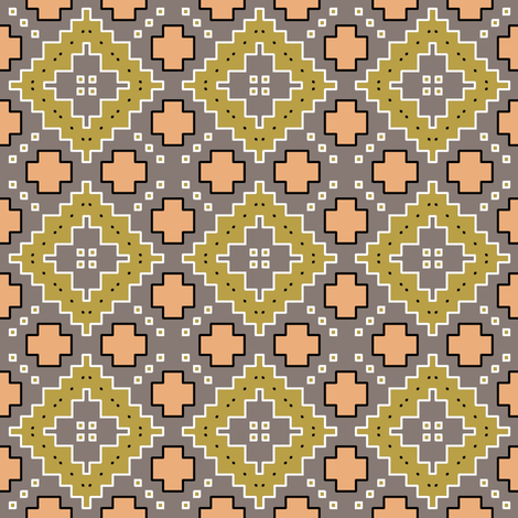 Olive Diamonds desert geometric fabric by beesocks on Spoonflower - custom fabric