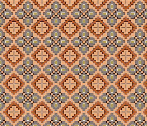 Adobe Dreams desert geometric fabric by beesocks on Spoonflower - custom fabric