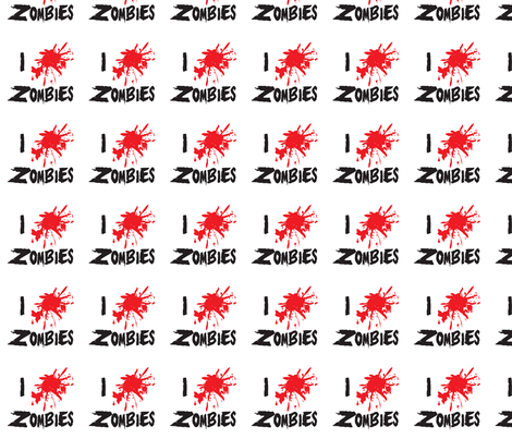 i-love-zombies fabric by bowdiva on Spoonflower - custom fabric