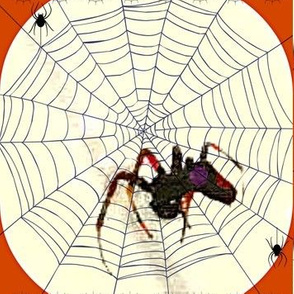 Big Black Diamond Spiders