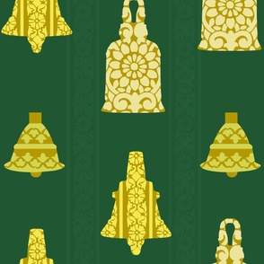 Temple Bells and Block Print Wrapping Paper
