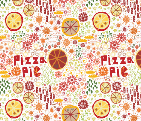 Pizza Pizza Pie fabric by dwdesigns on Spoonflower - custom fabric
