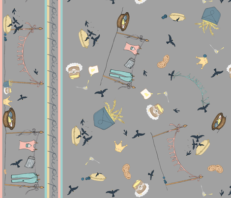 Baked in a Pie fabric by vivayne on Spoonflower - custom fabric